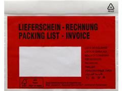 Debatin Transport Envelop met Venster, Zelfklevend, 175 x 140 mm, Rood (pak 250 stuks)