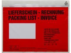 Debatin Transport Envelop met Venster, Zelfklevend, 240 x 180 mm, Rood (pak 250 stuks)