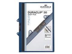 Durable Duraclip® 30 easy file 1-30 vel, blauw (pak 25 stuks)