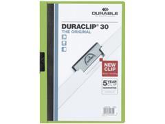 Durable Klemmap Duraclip® 1-30 vel, groen (pak 25 stuks)
