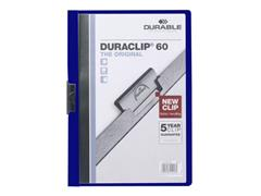 Durable Klemmap Duraclip® 1-60 vel, donkerblauw (pak 25 stuks)