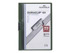 Durable Klemmap Duraclip® 1-60 vel, groen (pak 25 stuks)