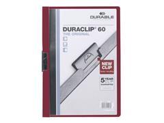 Durable Klemmap Duraclip® 1-60 vel, rood (pak 25 stuks)