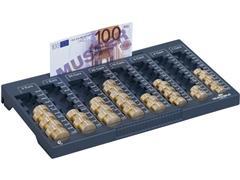 Durable Losse Telplank voor Eurobox Geldkist, 120 × 352 × 276 mm, Grijszwart