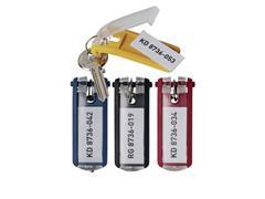 Durable Key Clip Sleutelhanger, Geel (pak 6 stuks)