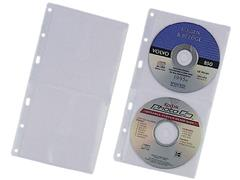 Durable CD/DVD hoes 2-3-4-gaats 2 x CD/DVD (pak 5 stuks)