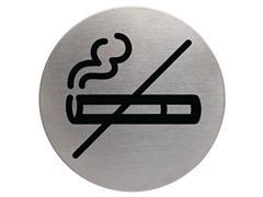 Durable Verboden te Roken Pictogram, RVS, ø 83 mm, Zilver