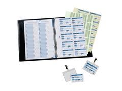 Durable Visitors Book 100 Navulling, Naamkaartjes 60 × 90 mm, Wit
