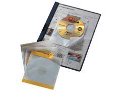 Durable Zelfklevende Fix CD/DVD hoes Transparant (pak 10 stuks)