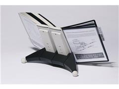 Durable Zichtpaneelhouder Sherpa® Display Inclusief 20 zichtpanelen, grijs/zwart