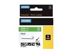Dymo Rhino Tape, Vinyl, 12 mm, Wit Op Groen