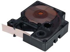 Dymo Industriële vinyl etikettencassette zwart op oranje 12 mm x 5,5 m verpakking met 1 stuk