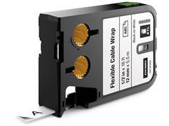 Dymo XTL™ flexibele kabelwikkels 12mm, zwart op wit
