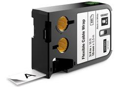 Dymo XTL™ flexibele kabelwikkels 19mm, zwart op wit