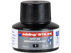 edding BTK 25-inktnavulling voor Edding EcoLine 28 en 29 whiteboardmarkers zwart (doos 10 x 25 milliliter)