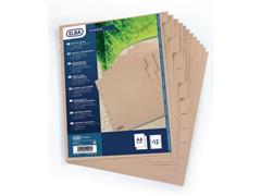 Elba Index tabblad, A4, blanco, karton, bruin (set 10 vel)
