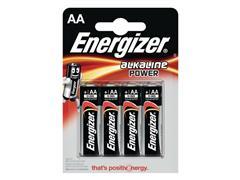 Energizer Alkaline Power AA Batterij, 1,5 V (pak 4 stuks)