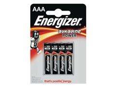 Energizer Alkaline Power AAA Batterij, 1,5 V (pak 4 stuks)