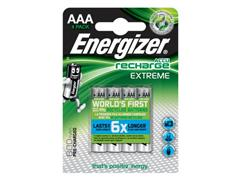 Energizer Oplaadbare Extreme oplaadbare batterijen AAA / NH12 800 mAh, blisterverpakking van 4 opgeladen batterijen (pak 4 stuks)