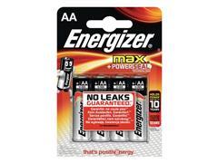Energizer Max AA Batterij, 1,5 V (blister 4 stuks)