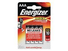 Energizer Max AAA Batterij, 1,5 V (blister 4 stuks)