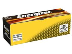 Energizer Industrial D Batterij, 1,5 V (pak 12 stuks)