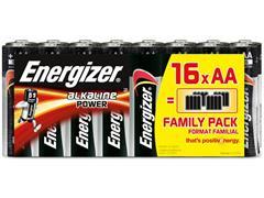 Energizer Alkaline Power AA Batterij, 1,5 V (doos 16 stuks)