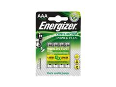 Energizer Oplaadbare Power Plus batterijen AAA / NH12 700 mAh, blisterverpakking van 4 opgeladen batterijen (pak 4 stuks)