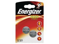 Energizer CR2025 Knoopcel Batterij, diameter 20 mm, 3 V (pak 2 stuks)