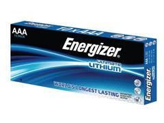 Energizer Ultimate Lithium AAA Batterij, 1,5 V (pak 10 stuks)
