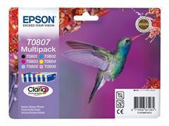 Epson T0807 Toner, multipack, kleur (pak 6 stuks)