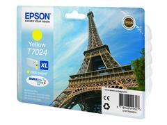 Epson T7024 Toner, single pack, hoog rendement, geel