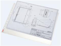 Esselte A3 Showtas, Polypropyleen, 75 micron, 11-gaats, transparant (pak 50 stuks)