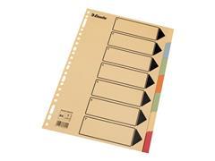 Esselte Tabblad Esselte A4 23r kleur kart/ds25x7 (doos 25 stuks)