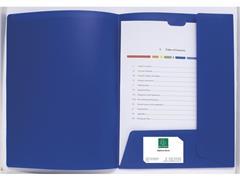 Exacompta Presentatiemap Krea Cover PP, A4, blauw (doos 30 stuks)