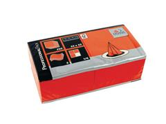 FASANA Papieren Servet, 33 × 33 cm, 3 laags, 1/4 vouw, Oranje (pak 50 stuks)
