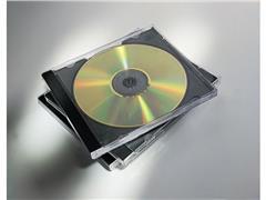 Fellowes Jewel CD/DVD Hoes, Transparant (pak 5 stuks)