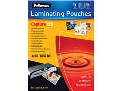Fellowes Lamineerhoes A2, 2 x 125 micron, Glanzend (pak 50 stuks)