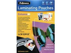 Fellowes Geperforeerde Lamineerhoes A4, 228 x 303 mm, 2 x 80 micron, Glanzend (pak 100 stuks)