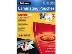 Fellowes Lamineerhoes A4, 216 x 303 mm, 2 x 125 micron, Glanzend (pak 100 stuks)
