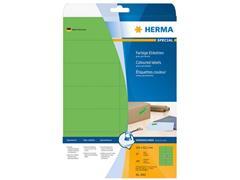 Herma Verwijderbaar gekleurd papieretiket, 105 x 42,3 mm, 20 vellen, 14 etiketten per A4-vel, groen (pak 280 stuks)
