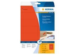 Herma Verwijderbaar gekleurd papieretiket, 105 x 42,3 mm, 20 vellen, 14 etiketten per A4-vel, rood (pak 280 stuks)