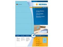 Herma Etiketten, 105 x 37 mm, 1600 stuks, blauw (pak 1600 stuks)