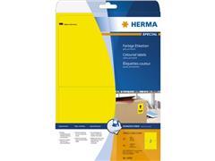Herma Etiketten, 199.6 x 143.5 mm, 40 stuks, geel (pak 40 stuks)