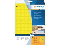 Herma Etiketten, 50 x 140 mm, 3780 stuks, geel (pak 3780 stuks)