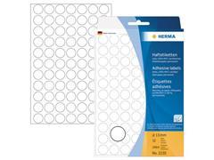 Herma Markeer etiket Diameter 13 mm, wit (pak 2464 stuks)
