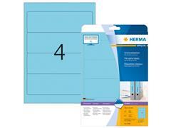 Herma Ordneretiketten 192x61 mm, blauw (pak 80 stuks)