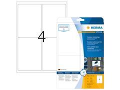 Herma Outdoor folie-etiketten met ronde hoeken 99,1x139 mm (pak 40 stuks)