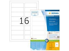 Herma PREMIUM etiketten met ronde hoeken 88,9x33,8 mm (pak 1600 stuks)