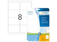Herma Premium Permanent Papieretiket, 99,1 × 67,7 mm, Ronde hoek, Wit (pak 200 stuks)